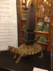 """turtle with obelisk"""