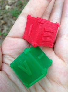 """""""3D printed dice"""""""