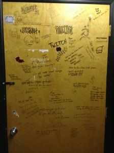 """bathroom graffiti"""