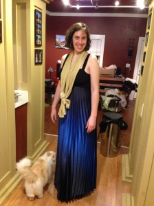 Who am I wearing? Macy's, Clearance Rack Collection, 2010; Also, Photobombed by Fluffernutter.